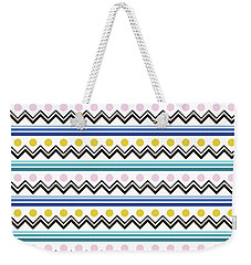 Mountain Pattern Weekender Tote Bag by Elizabeth Tuck