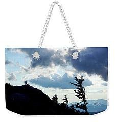 Mountain Peak Silhouette Weekender Tote Bag