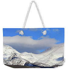 Weekender Tote Bag featuring the photograph Mountain Peaks - Panorama by Shane Bechler