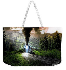 Weekender Tote Bag featuring the photograph Mountain Railway - Morning Whistle by Robert Frederick