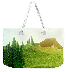 Weekender Tote Bag featuring the painting Mountain Rain by Bill OConnor