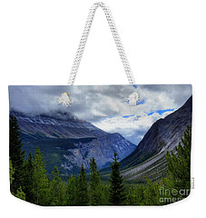 Mountain Ranges South Of Jasper Weekender Tote Bag