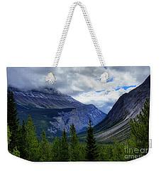 Mountain Ranges South Of Jasper Weekender Tote Bag