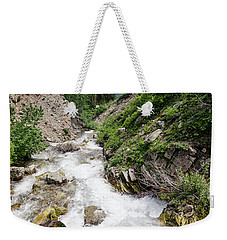 Weekender Tote Bag featuring the photograph Mountain River by Margaret Pitcher