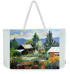 Mountain Settlement In New Mexico  Weekender Tote Bag