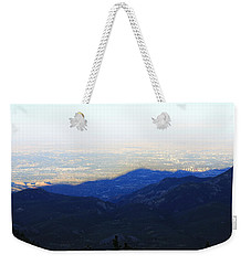Weekender Tote Bag featuring the photograph Mountain Shadow by Christin Brodie