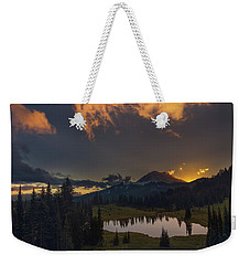 Weekender Tote Bag featuring the photograph Mountain Show by Gene Garnace