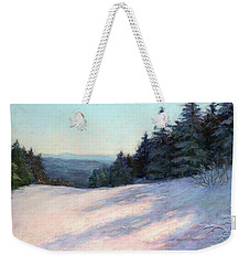 Mountain Stillness Weekender Tote Bag by Vikki Bouffard