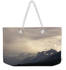 Weekender Tote Bag featuring the photograph Mountain Storm by Inge Riis McDonald