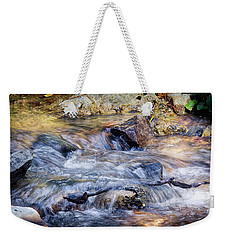 Weekender Tote Bag featuring the photograph Mountain Stream by Elaine Malott