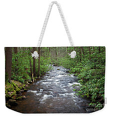 Weekender Tote Bag featuring the photograph Mountain Stream Laurel by John Stephens