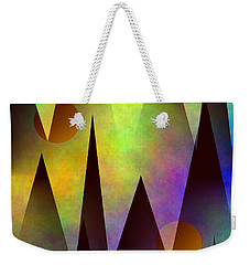 Mountain Sunset Abstract Weekender Tote Bag