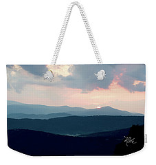 Weekender Tote Bag featuring the photograph Blue Ridge Mountain Sunset by Meta Gatschenberger