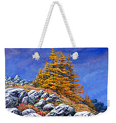 Mountain Tamaracks Weekender Tote Bag