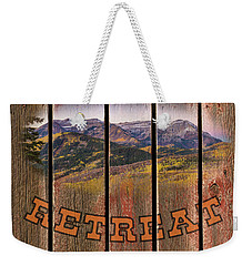 Mountain Top Retreat Weekender Tote Bag