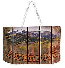 Mountain Top Retreat Weekender Tote Bag