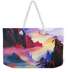 Mountain Top Sunrise Weekender Tote Bag