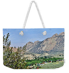 Mountain Town Weekender Tote Bag by Marilyn Diaz