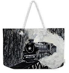 Mountain Train Weekender Tote Bag
