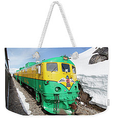 Mountain Train Weekender Tote Bag