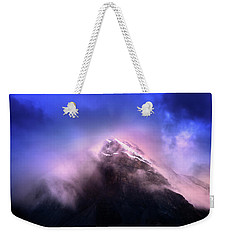 Weekender Tote Bag featuring the photograph Mountain Twilight by John Poon