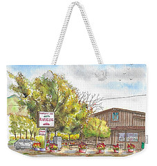 Mountain View Barbeque In Walker, California Weekender Tote Bag
