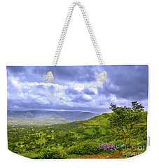 Weekender Tote Bag featuring the photograph Mountain View by Charuhas Images