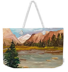 Mountain View Weekender Tote Bag
