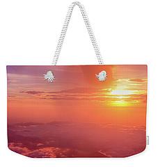 Weekender Tote Bag featuring the photograph Mountain View by Tatsuya Atarashi