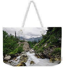 Weekender Tote Bag featuring the photograph Mountain Vista by Margaret Pitcher