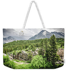 Weekender Tote Bag featuring the photograph Mountain Vistas by Margaret Pitcher