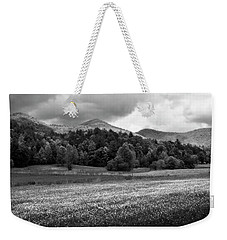 Mountain Wildflowers In Black And White Weekender Tote Bag