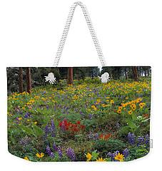 Mountain Wildflowers Weekender Tote Bag by Leland D Howard