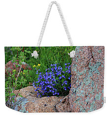 Weekender Tote Bag featuring the photograph Mountain Wildflowers by Shane Bechler