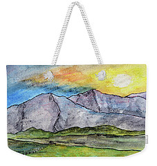 Mountainous Landscape Weekender Tote Bag by R Kyllo