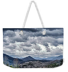 Weekender Tote Bag featuring the photograph Mountains 1 by Walt Foegelle