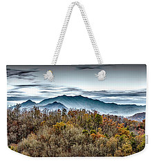 Weekender Tote Bag featuring the photograph Mountains 2 by Walt Foegelle