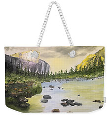 Mountains And Stream Weekender Tote Bag