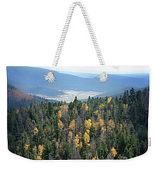 Mountains And Valley Weekender Tote Bag by Jill Battaglia