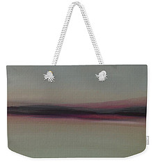 Weekender Tote Bag featuring the painting Mountains At Dawn by Michelle Abrams