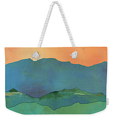 Mountains At Sunrise Weekender Tote Bag by Jacquie Gouveia