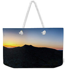 Weekender Tote Bag featuring the photograph Mountains At Sunset by Ed Cilley