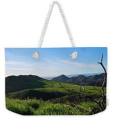 Weekender Tote Bag featuring the photograph Mountains To Valley View by Matt Harang