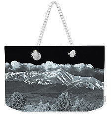 Mountains, When High Enough And Tough Enough, Measure Men.  Weekender Tote Bag