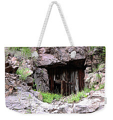 Mountainside Bungalow Weekender Tote Bag by Natalie Ortiz