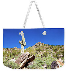 Weekender Tote Bag featuring the photograph Mountainside Cactus 2 by Ed Cilley