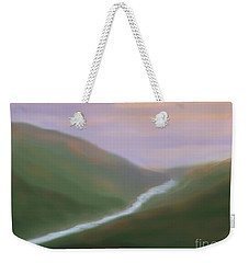 Mountainside Serenity Weekender Tote Bag by Roxy Riou