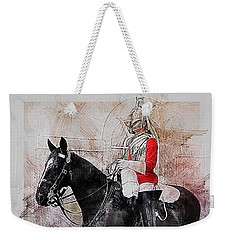 Mounted Household Cavalry Soldier On Guard Duty In Whitehall Lon Weekender Tote Bag