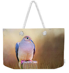 Mourning Dove Painted Portrait Weekender Tote Bag