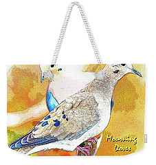 Mourning Dove Pair Poster Image Weekender Tote Bag by A Gurmankin
